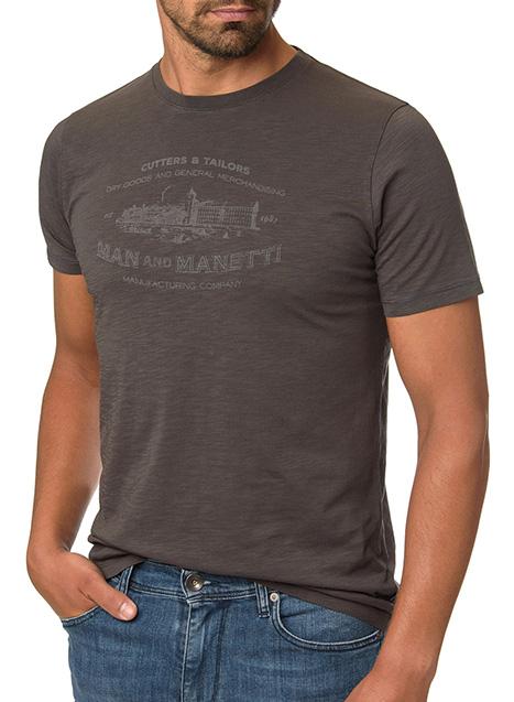 Ανδρικό T-shirt Manetti casual dirty grey