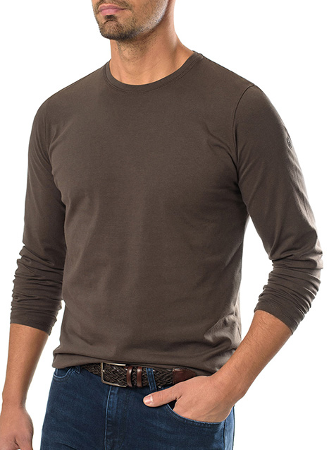 Ανδρικό T-shirt Manetti casual velvet brown