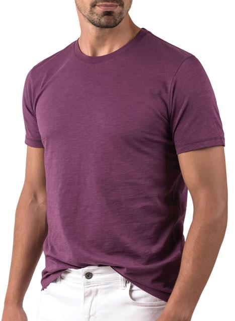 Ανδρικό T-shirt κοντό μανίκι Manetti casual prune purple