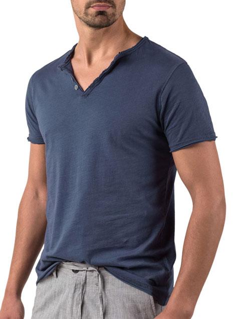 Ανδρικό T-shirt Manetti casual blue