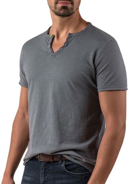 Ανδρικό T-shirt Manetti casual grey