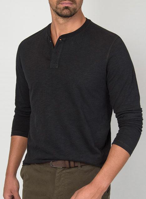 Ανδρικό Henley Manetti μακρύ μανίκι accessories black