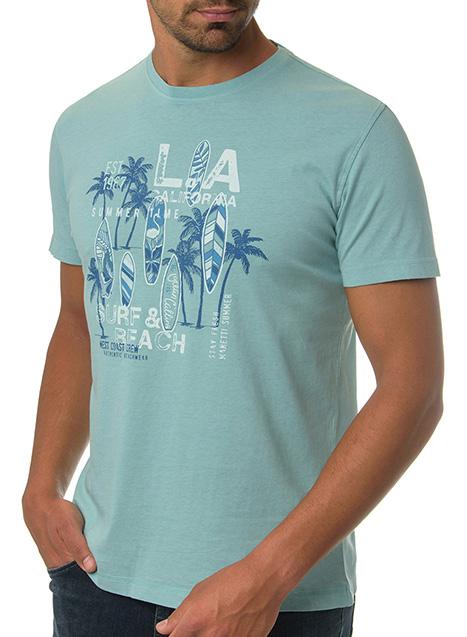 Ανδρικό T-Shirt Manetti casual mint