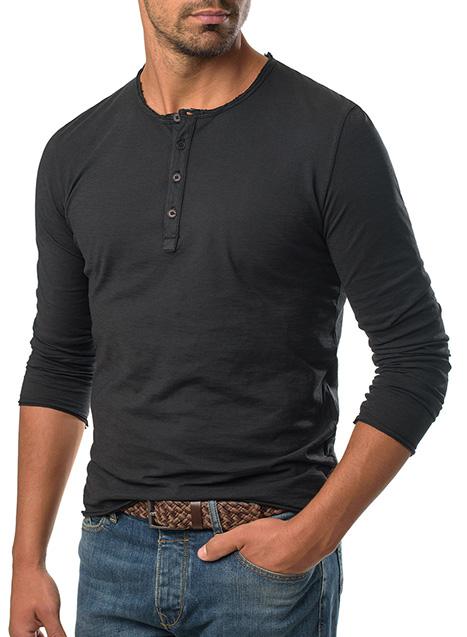 Ανδρικό Henley Manetti casual black