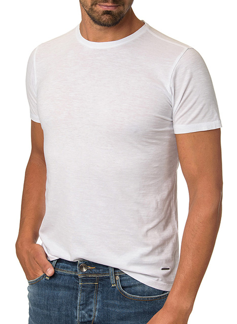 Ανδρικό T-shirt Manetti casual white