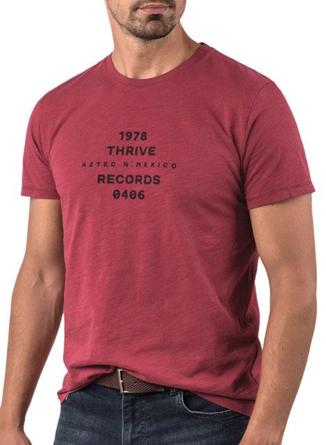 Ανδρικό T-shirt κοντό μανίκι Manetti casual rusty red