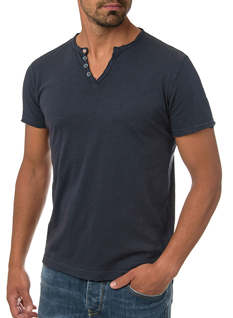 Ανδρικό T-Shirt Manetti casual dark blue