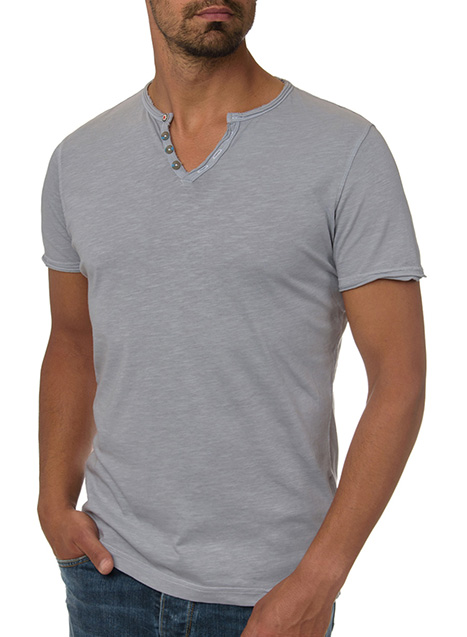 Ανδρικό T-Shirt Manetti casual grey