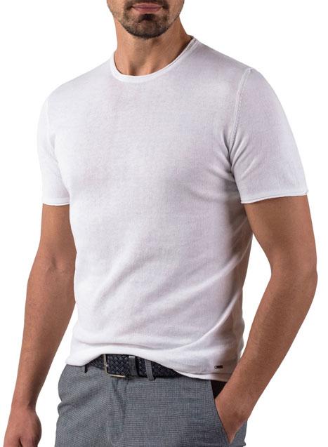 Ανδρικό Πλεκτή μπλούζα Manetti casual white