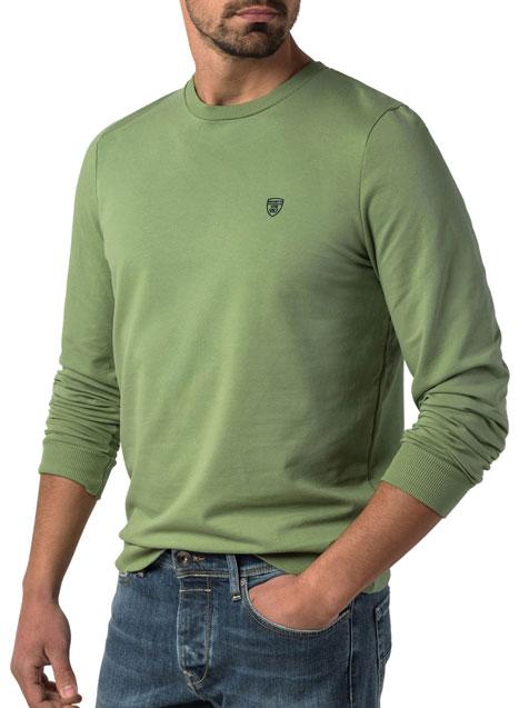 Ανδρικό Φούτερ λαιμόκοψη Manetti casual sour green