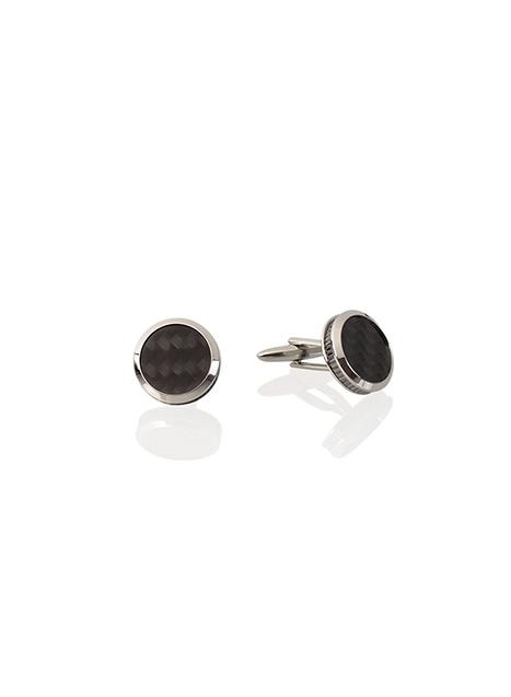 Ανδρικό Μανικετόκουμπα Manetti accessories silver carbon