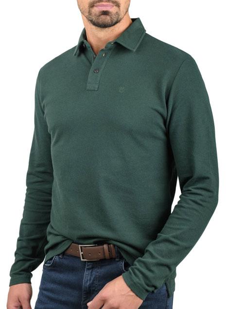 Ανδρικό Polo πικέ Manetti casual dark green