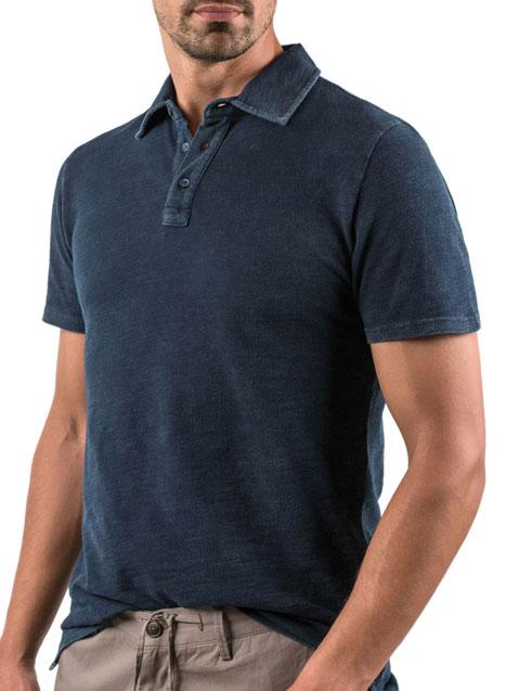 Ανδρικό Polo shirt Manetti casual indigo blue