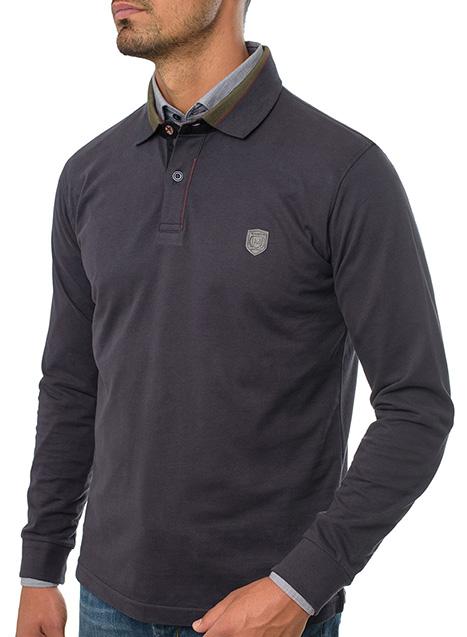 Ανδρικό Polo jersey Manetti casual black