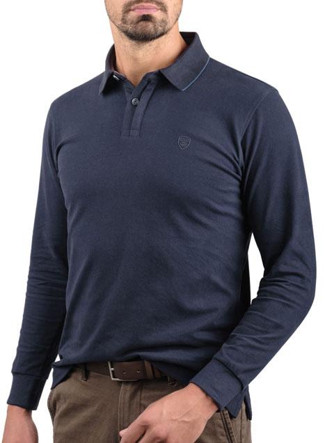 Ανδρικό Jersey polo Manetti casual blue
