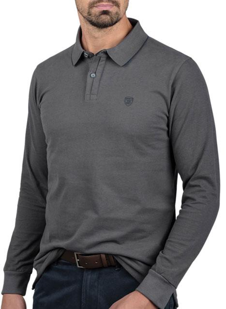 Ανδρικό Jersey polo Manetti casual steel grey