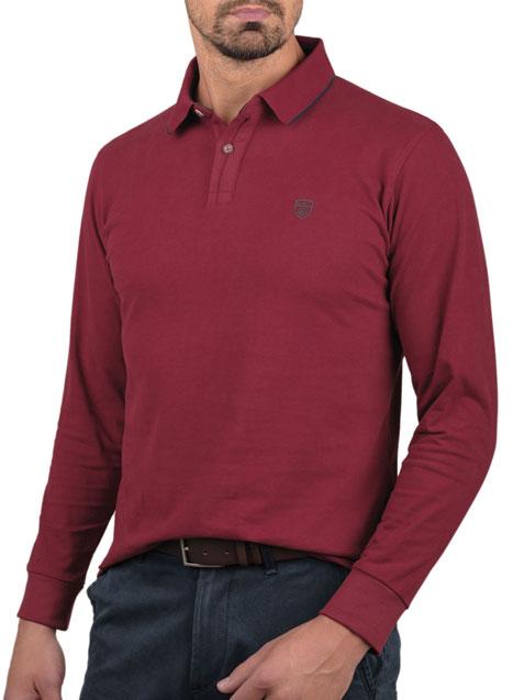 Ανδρικό Jersey polo Manetti casual burgundy red