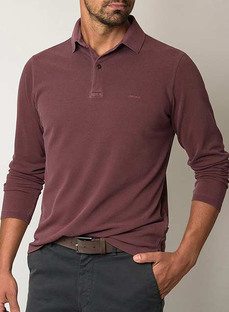Ανδρικό Polo shirt Manetti casual wine purple