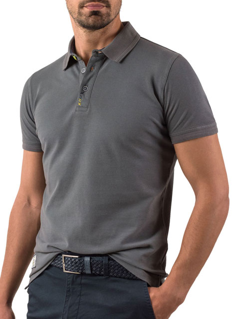 Ανδρικό Polo Manetti casual grey