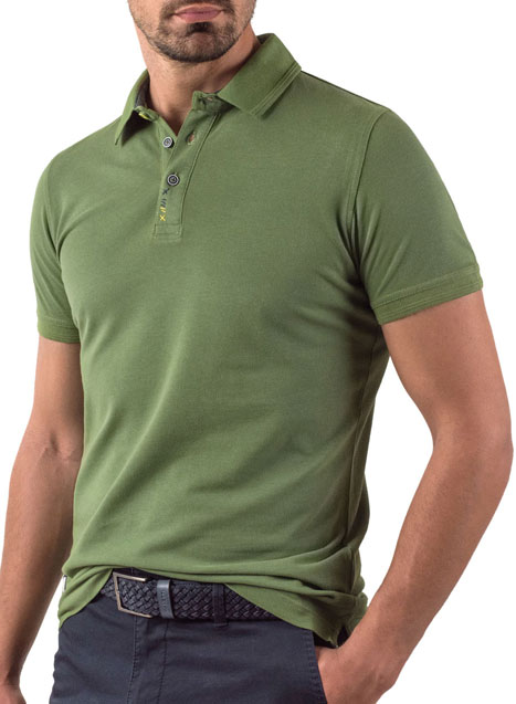 Ανδρικό Polo Manetti casual green