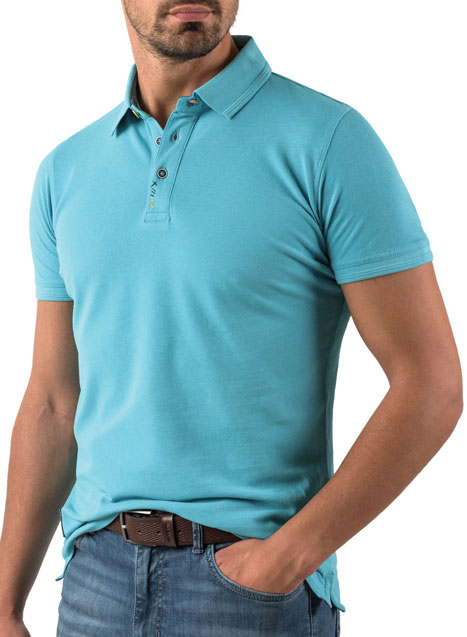 Ανδρικό Polo Manetti casual turquise