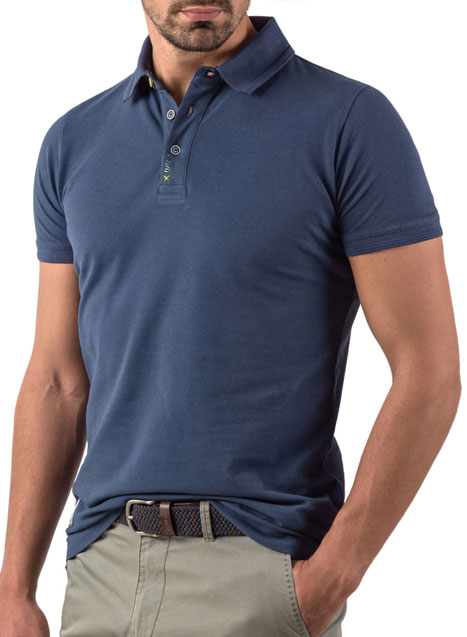 Ανδρικό Polo Manetti casual blue