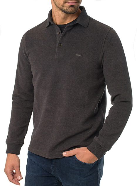 Ανδρικό Fleece polo Manetti casual khaki