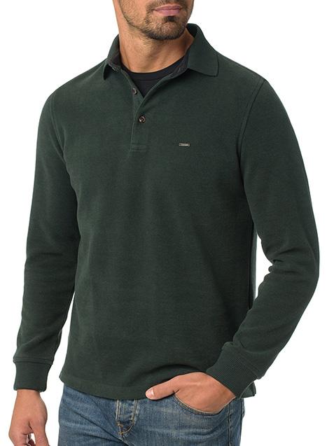Ανδρικό Fleece polo Manetti casual green
