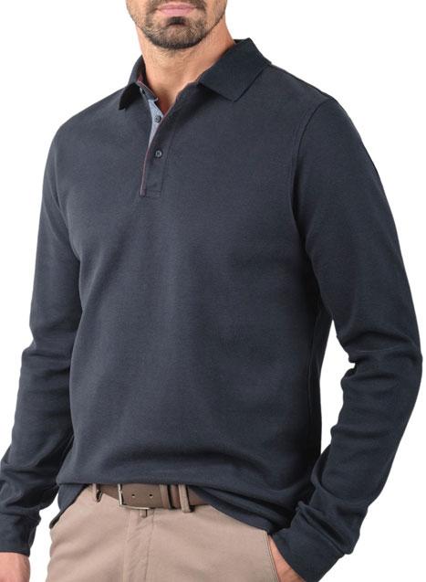 Ανδρικό Polo Manetti casual blueblack