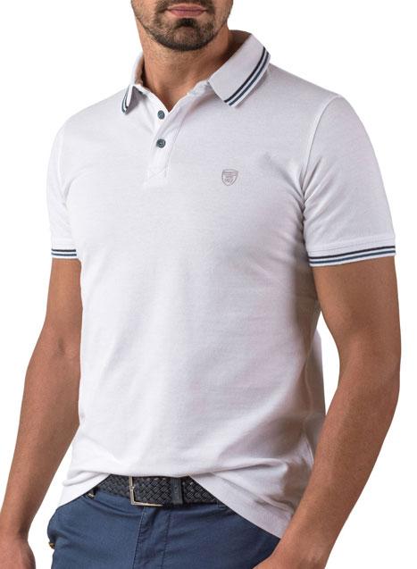 Ανδρικό Polo Manetti casual white