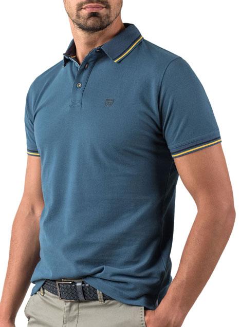 Ανδρικό Polo Manetti casual blue