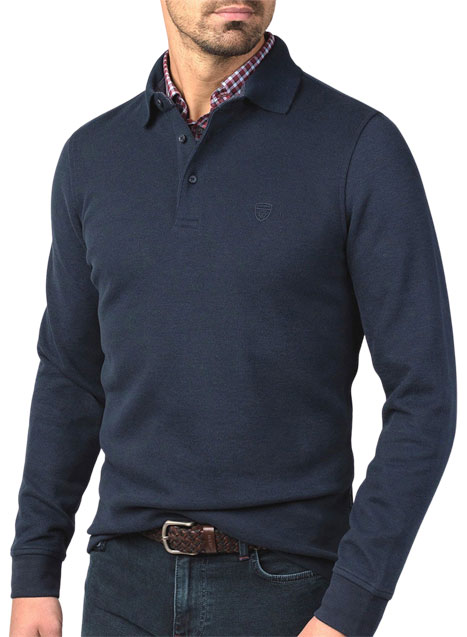 Ανδρικό Polo fleece Manetti casual blue