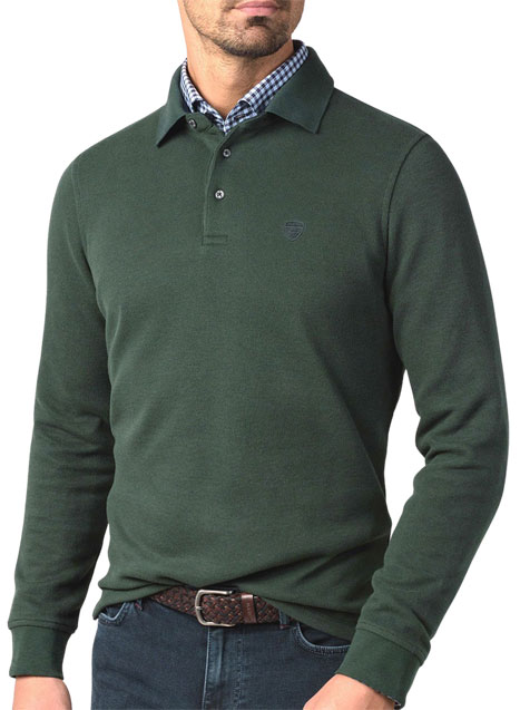 Ανδρικό Polo fleece Manetti casual green