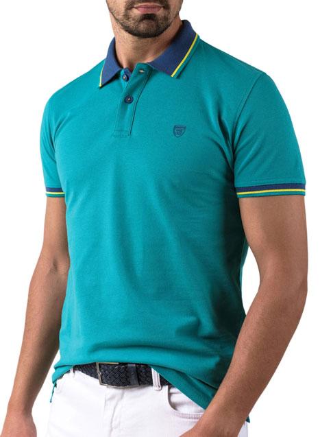Ανδρικό Polo Manetti casual mint