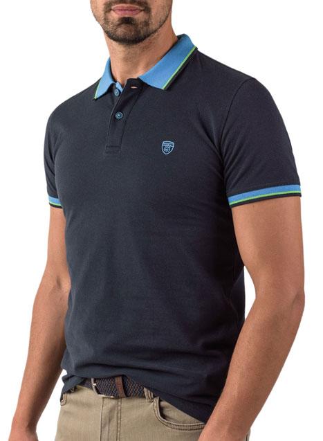 Ανδρικό Polo Manetti casual navy blue