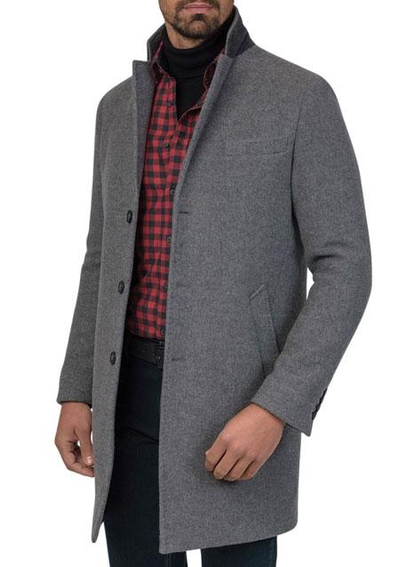 Ανδρικό Παλτό 3κουμπο Manetti casual grey melanze