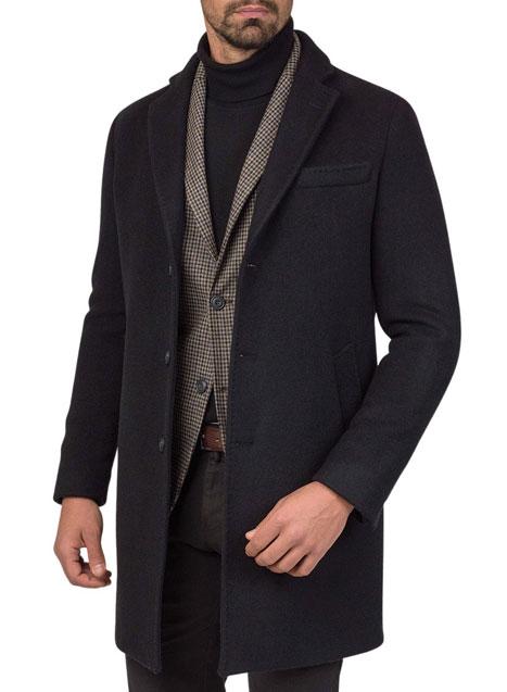 Ανδρικό Παλτό 3κουμπο Manetti casual black