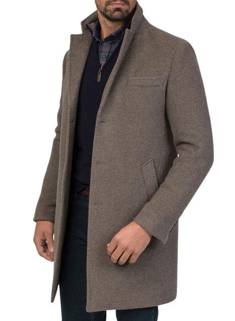 Ανδρικό Παλτό 3κουμπο Manetti casual cigar brown