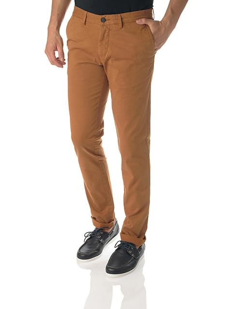 Ανδρικό Παντελόνι chinos Manetti casual cinnamon