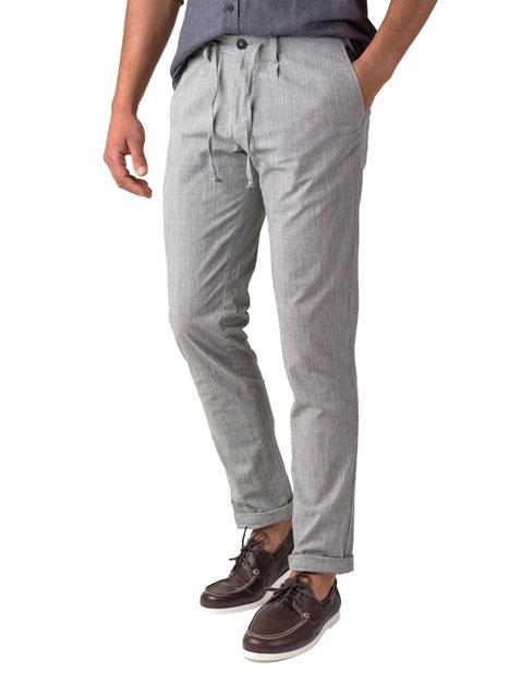 Ανδρικό Παντελόνι chinos Manetti casual grey-white