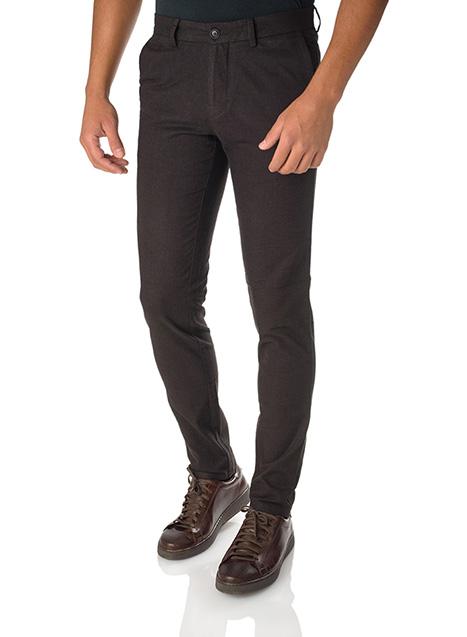 Ανδρικό Παντελόνι chinos Manetti casual warm black