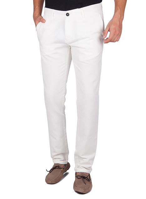 Ανδρικό Παντελόνι chinos Manetti casual white