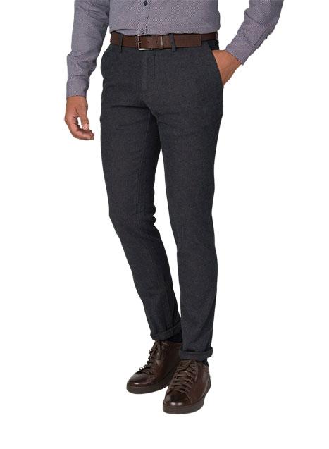 Ανδρικό Παντελόνι chinos Manetti casual smoke grey