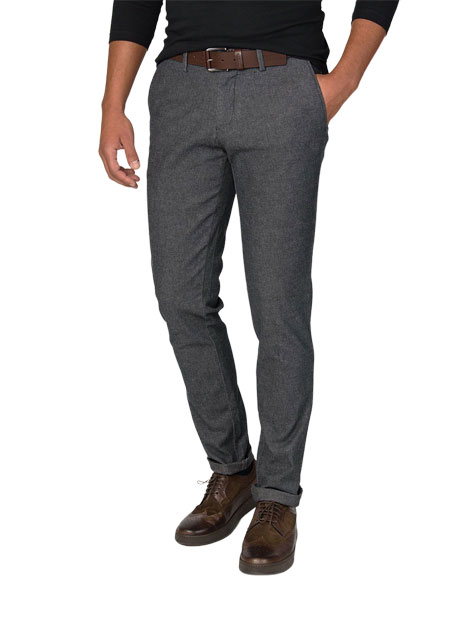 Ανδρικό Παντελόνι chinos Manetti casual grey melanze