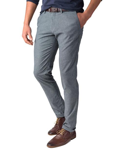 Ανδρικό Παντελόνι chinos Manetti formal blue