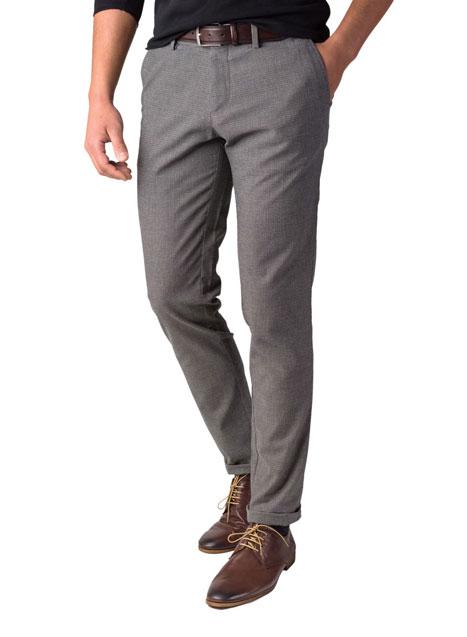 Ανδρικό Παντελόνι chinos Manetti formal black-beige