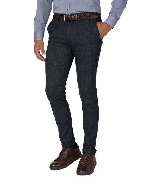 Ανδρικό Παντελόνι chinos Manetti casual blue