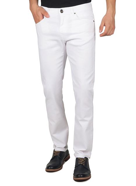 Ανδρικό Παντελόνι 5τσεπο Manetti casual white