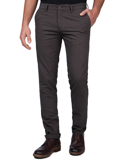 Ανδρικό Παντελόνι chinos Manetti dark brown