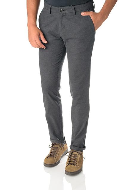 Ανδρικό Παντελόνι chinos Manetti casual grey black